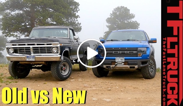 Old vs New: 1974 Ford Highboy vs Raptor Off Road Review ...